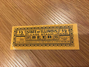 --Illinois State Beer Stamp 1934--