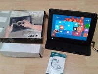 BOXED acer Iconia Tablet, Windows 8,webcam, Case,Office,10.1