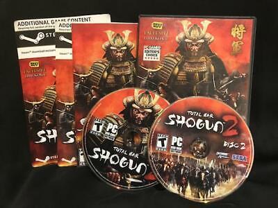 Total War: Shogun 2 (PC, 2011) 2 Disc Sega PC Gamer Editor's Choice Best Buy Exc