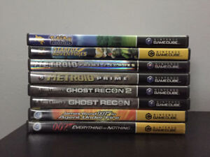 Gamecube with 32 games, memory card, controller