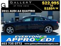 2011 Audi A4 2.0T QUATTRO $189 bi-weekly APPLY NOW DRIVE NOW