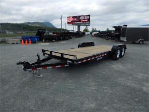 NEW 20' 14,000lb 16+4 TILT HEAVY DUTY FLATDECK EQUIPMENT TRAILER