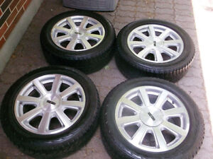 """18"""" OEM LINCOLN SNOW TIRE PACKAGE - TPMS - MKS, TAURUS"""