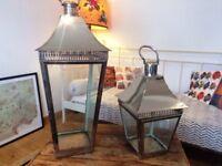 Pair of John Lewis Garden Lanterns