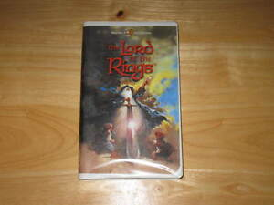 ANIMATED THE LORD OF THE RINGS MOVIE - VHS BY RALPH BAKSHI 1978