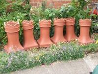 Plastic terroccotta crown shaped chimney planters