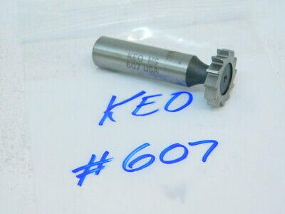 "1/"" x 3//8/"" Staggered 10T Moon HSCO Cobalt Woodruff Keyseat Cutter Style 1208"