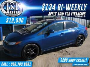 2012 Honda Civic LX Sedan IN GREAT SHAPE! APPLY NOW!