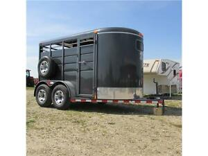 New 2015 Calico 12' Stock Bumper Pull Trailer w. upgrades Edmonton Edmonton Area image 1