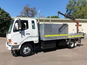 2007 Fuso Fighter FK 600 Table Top White Crane Truck Homebush West Strathfield Area Preview