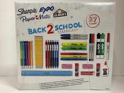 Sharpie Expo Paper Mate Elmers Back 2 School Essentials - 37 Count Of Supplies