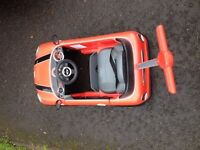 Mini Cooper push a long car/ push buggy