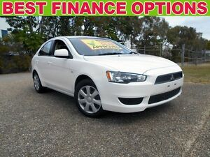 2013 Mitsubishi Lancer CJ MY13 ES Sportback White 6 Speed Constant Variable Hatchback Underwood Logan Area Preview