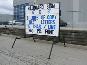 --- White Portable Signs ---