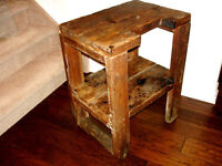 INDUSTRIAL LOFT early PRIMITIVE barn WORK TABLE w/ROLLER so chic