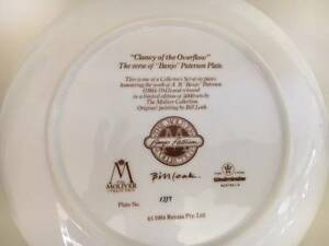 Plates - Banjo Paterson Moliver Collection Part Collection Beaumaris Bayside Area Preview