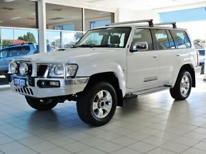2014 Nissan Patrol GU Series 9 ST Plus (4x4) White 5 Speed Manual Wagon Morley Bayswater Area Preview