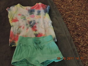 Girl's Size 2T Shorts & Top