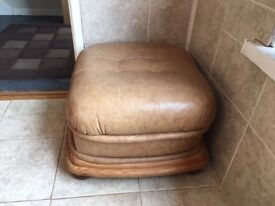 Leather Foot Stool for sale