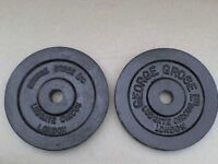 20 lb's 9.1 kg Metal Dumbbell barbell Weights and Bars - Heathrow