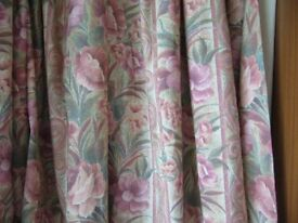 pair thermal curtains rose pink each 62ins; wide x 72ins; long Southbourne
