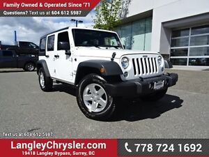 2016 Jeep Wrangler Unlimited Sport W/ 4X4, POWER WINDOWS/LOCK...