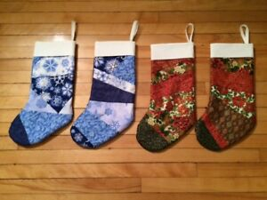 Quilted Christmas Socks