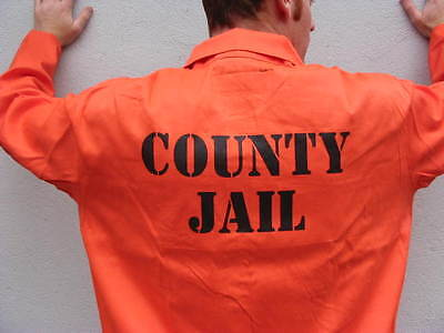 PRISON JAIL INMATE JUMPSUIT Halloween Costume HIGHEST QUALITY - Jail Halloween Costume