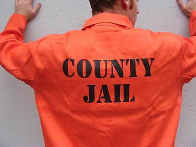 PRISON JAIL INMATE JUMPSUIT Halloween Costume HIGHEST - Inmate Jumpsuit Costume