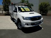 2012 Toyota Hilux KUN26R MY12 SR White 5 Speed Manual Cab Chassis Robina Gold Coast South Preview