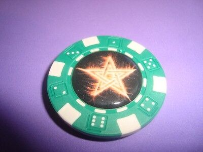 Burning STAR Multi-Color Fire-Flames Image Poker Chip Magnet Golf Ball Marker