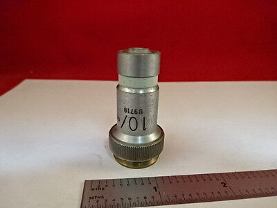 Microscope Part Vickers England Uk Objective Microplan 10x Optics As Is 21-a-21