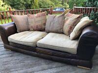 DFS Leather/Fabric Sofa