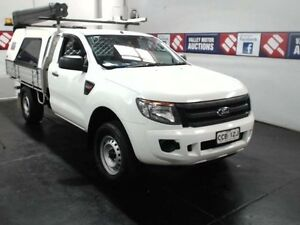 2014 Ford Ranger PX XL 2.2 HI-Rider (4x2) White 6 Speed Automatic Cab Chassis Cardiff Lake Macquarie Area Preview