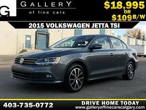 2015 Volkswagen Jetta TSI $109 bi-weekly APPLY NOW DRIVE NOW