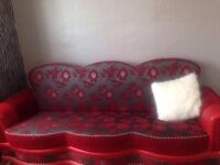 Free 2x red large 3 seater sofas.