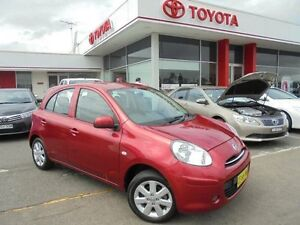 2014 Nissan Micra K13 MY13 ST-L Red 4 Speed Automatic Hatchback Belmore Canterbury Area Preview