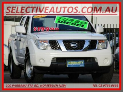 2013 Nissan Navara D40 MY13 RX (4x2) White 6 Speed Manual