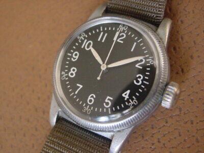 U.S. Military Issue Waltham Type A - 11 Wrist Watch .... Cal. 6/0 B ... WW2 Era
