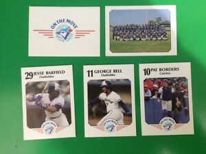 Very Rare 1989 Toronto Blue Jays Baseball Cards Fire Fighter Set