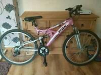"Trax Ladies Full Suspension Mountain Bike 26"""
