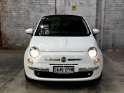 2014 Fiat 500C Series 3 Lounge Dualogic White 5 Speed Sports Automatic Single Clutch Convertible Mile End South West Torrens Area Preview