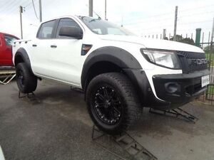 2012 Ford Ranger PX XL 3.2 (4x4) White 6 Speed Automatic Dual Cab Utility Sandgate Newcastle Area Preview