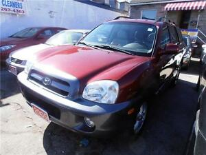 2005 Hyundai SantaFe V6 2.7L AWD Leather & Sunroof Red 192,000km