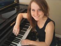 Offering in home piano lessons