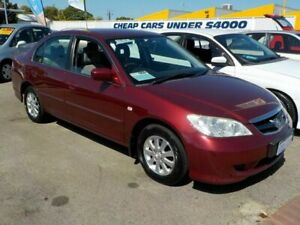 2005 Honda Civic 7th Gen GLi Red 5 Speed Manual Sedan