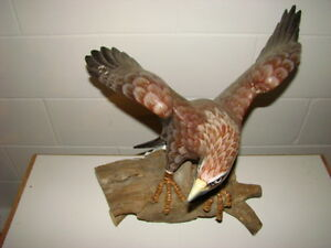 Hand painted Eagle carving