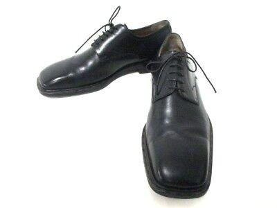 Auth LOUIS VUITTON Black Leather Shoes Men