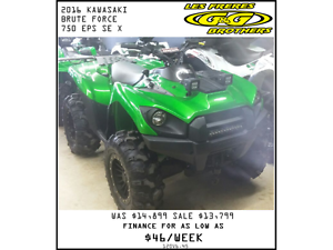 2016 BRUTE FORCE 750i EPS SE X EDITION SALE $13,799