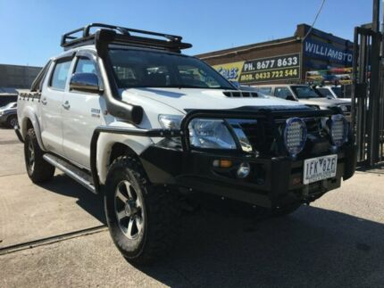 2011 Toyota Hilux KUN26R MY12 SR (4x4) White 4 Speed Automatic Dual Cab Pick-up Williamstown North Hobsons Bay Area Preview